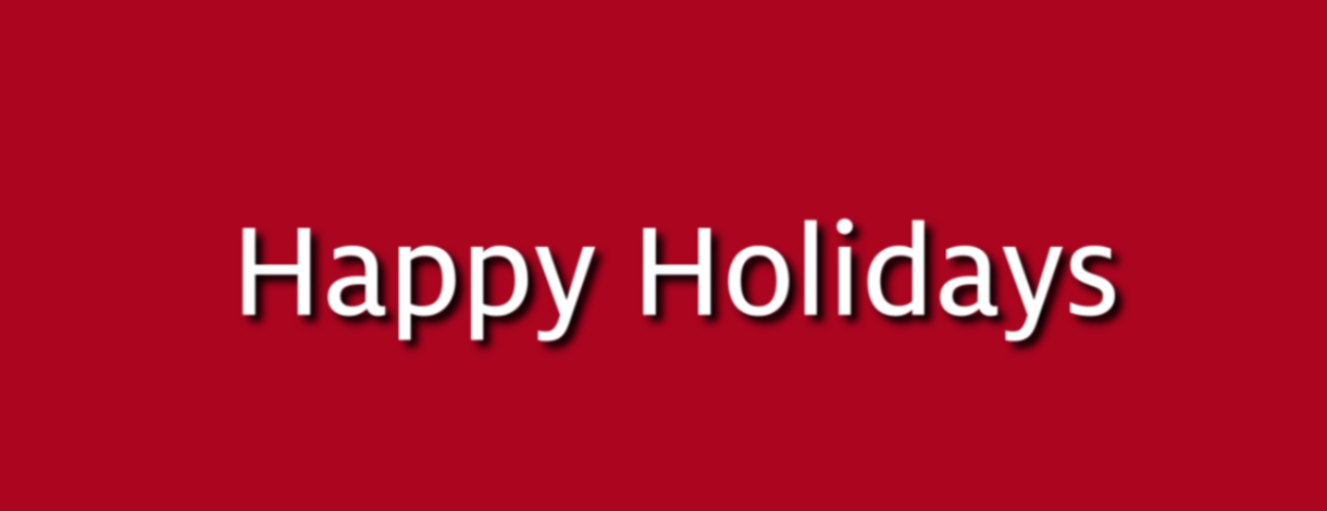 Happy Holidays from Cooperative Extension
