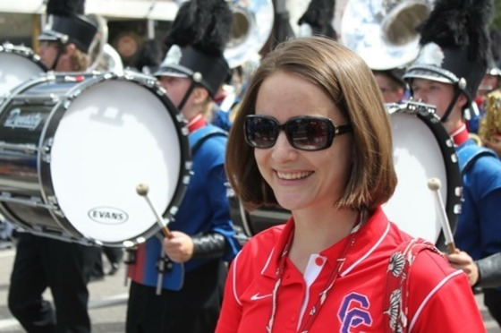 CCHS Band Director Sara Wynes honored as director who makes a difference