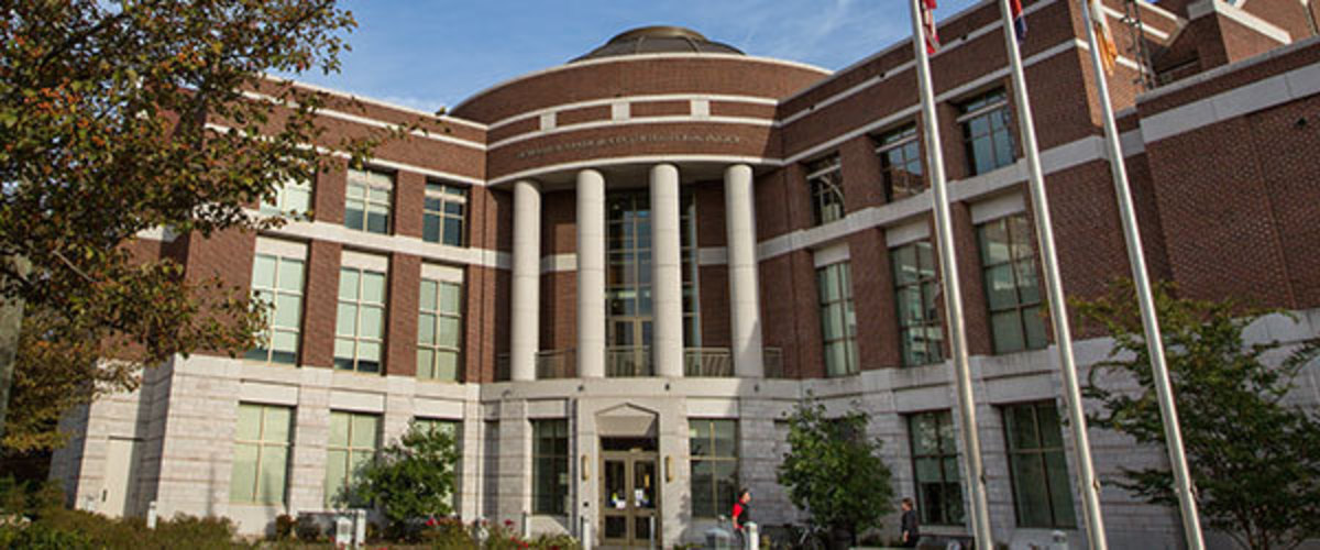 Front of the Baker Center building