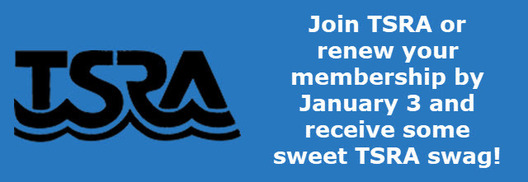 Join TSRA or renew your membership by January 3 and receive some sweet TSRA swag!
