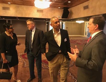 Commissioner Lorraine Cochran-Johnson, Tucker Development Director John McHenry, Pepsi General Manager Skip Vaughn and Tucker Mayor Frank Auman