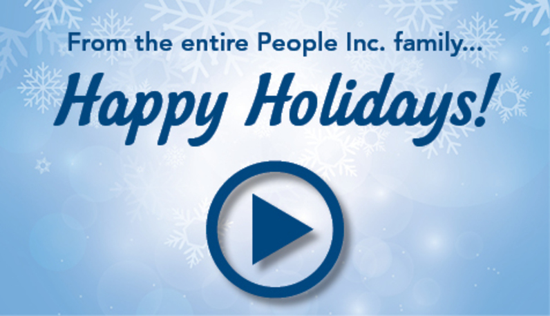 Graphic that links to the People Inc. holiday card video.