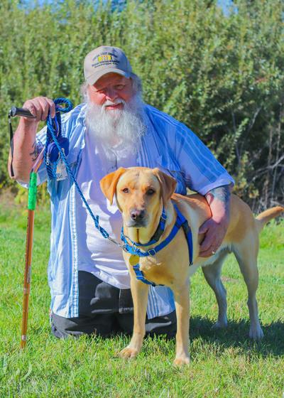 Martin and Service Dog Robbie