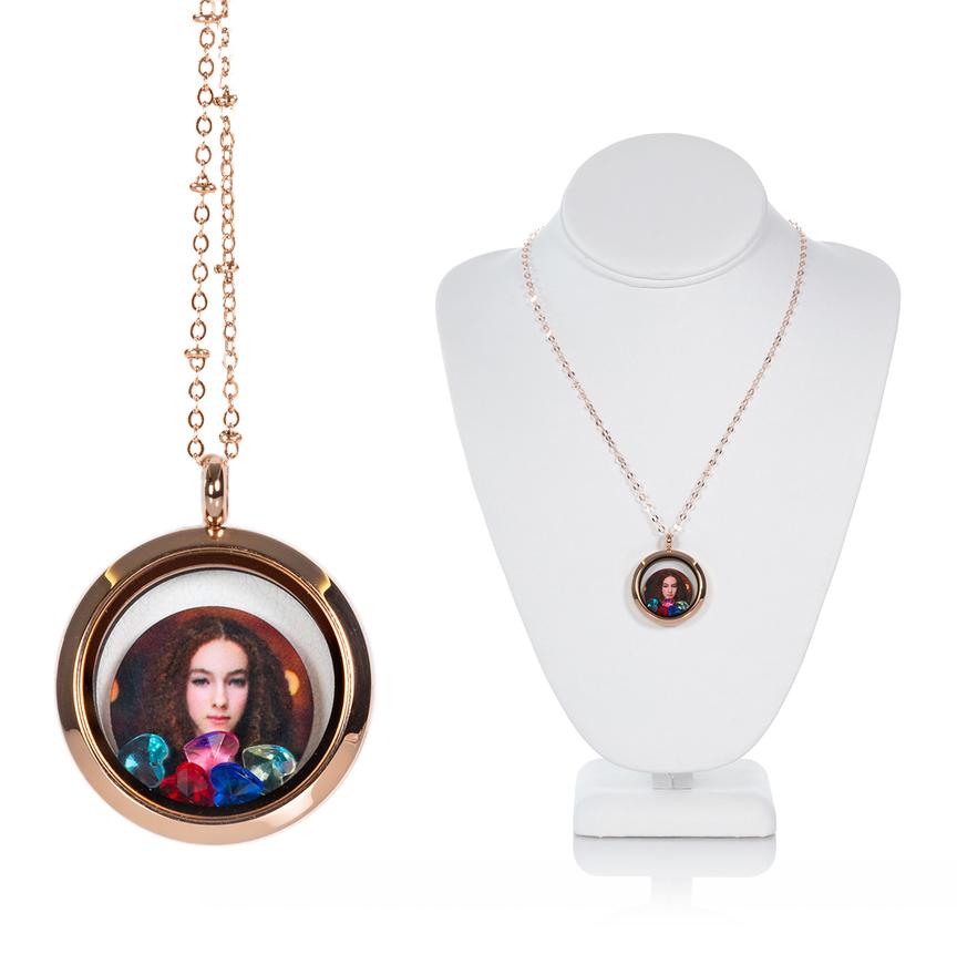 Kaleidoscope Glass Locket Necklace