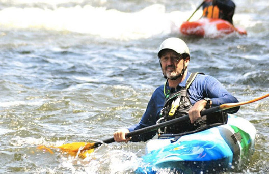 Jack Lyle in a whitewater kayak