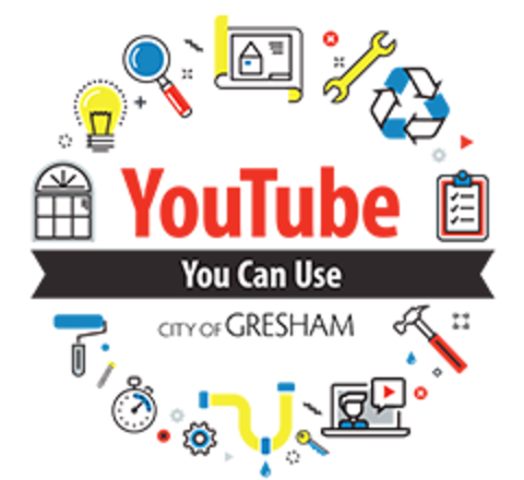 Logo for YouTube You Can Use video series for the City of Gresham.