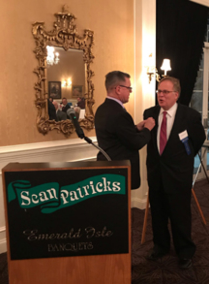 Photo of Bob O'Leary recognizes Ron Papa, People Inc. Foundation board member and new member of the People Inc. Charitable Legacy Society.