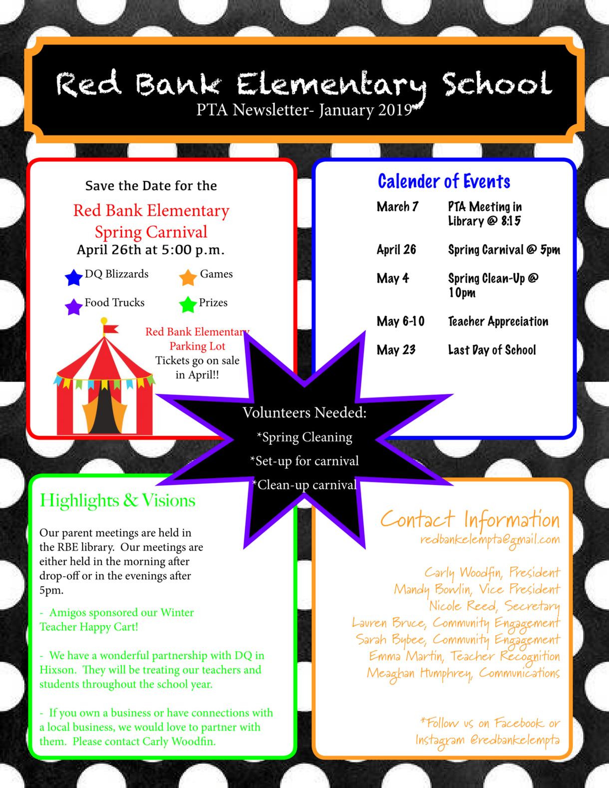 RBE PTA Newsletter