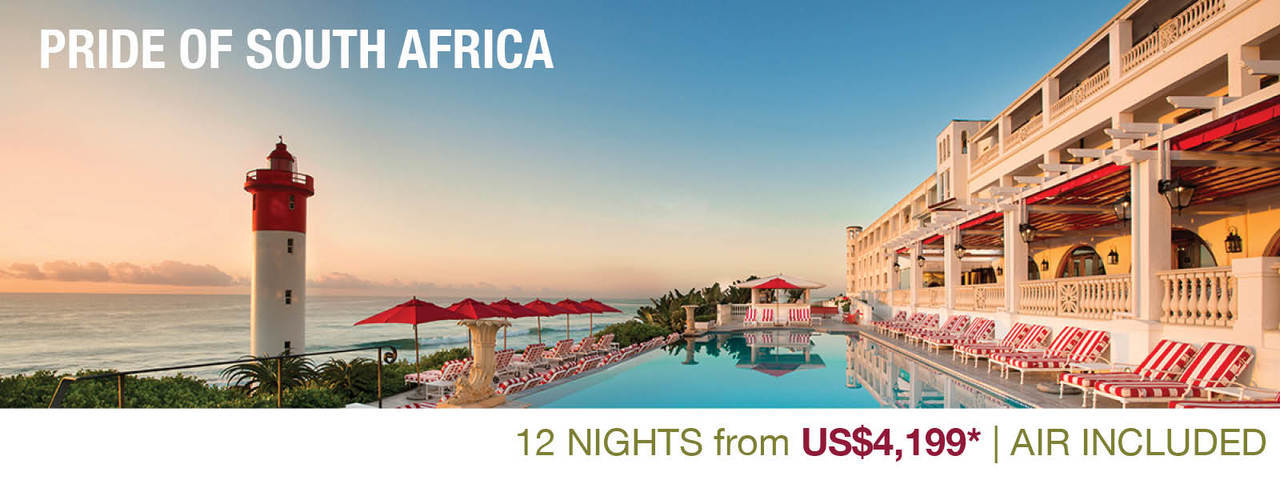 View the Pride of South Africa itinerary