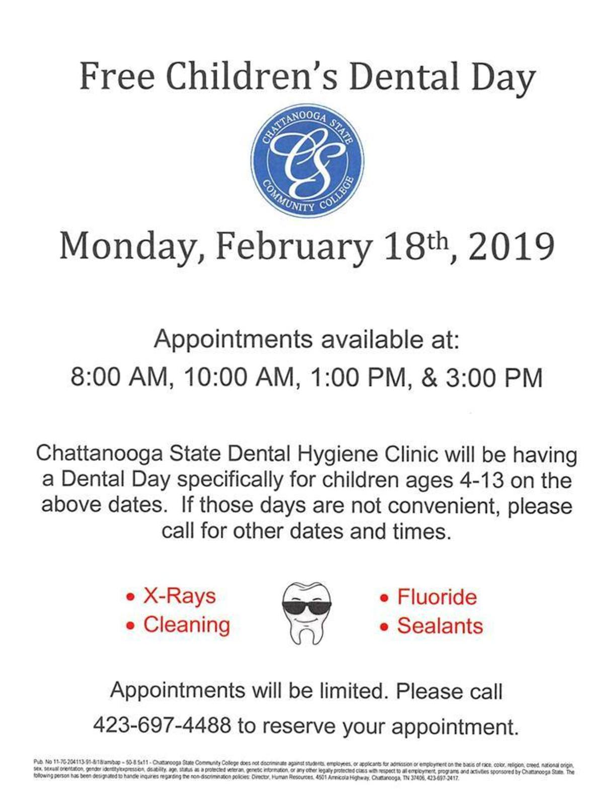Free Children's Dental Day Flyer
