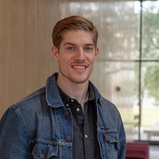 Environmental geosciences student Hayden Smith