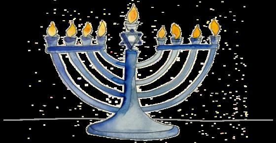 Illustration of a menorah