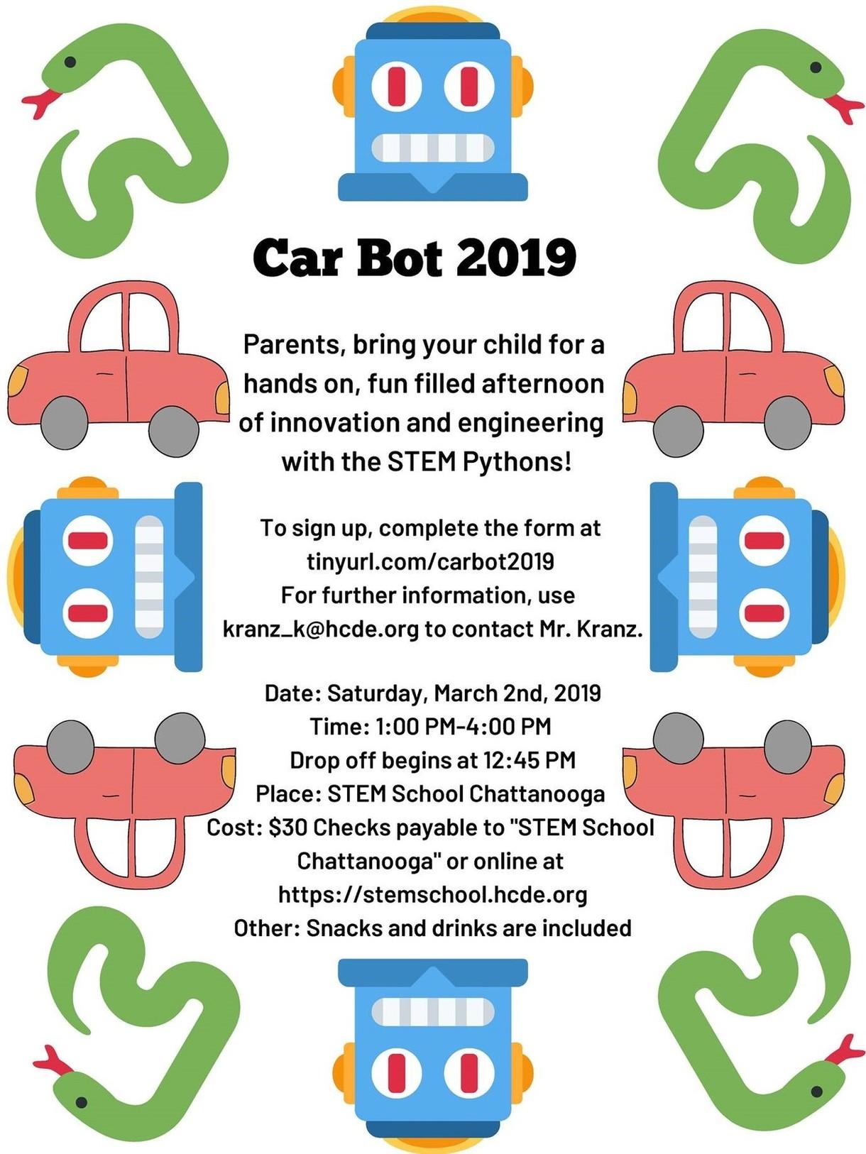 STEM School Car Bot Flyer