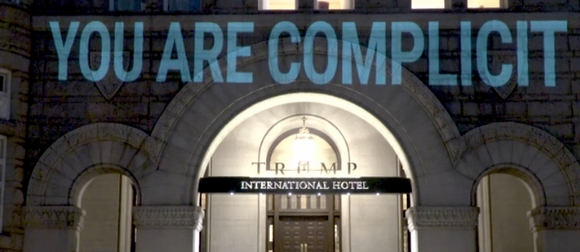 Projection on the Trump International Hotel