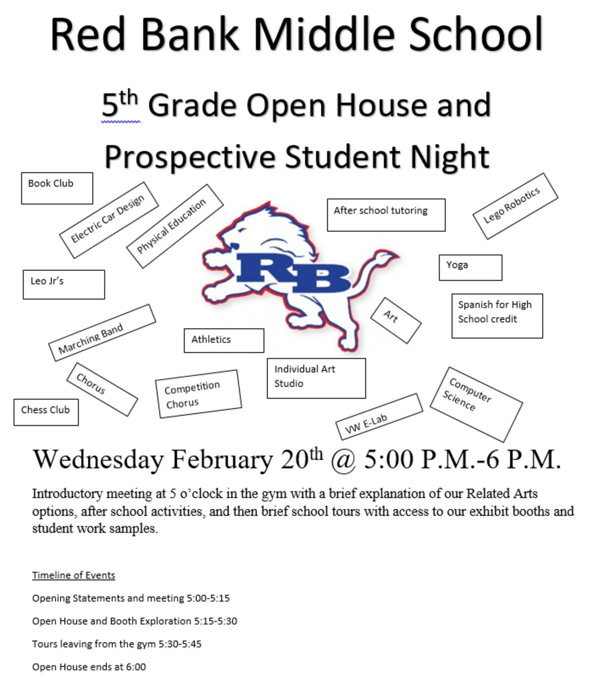 RBMS Open House Flyer