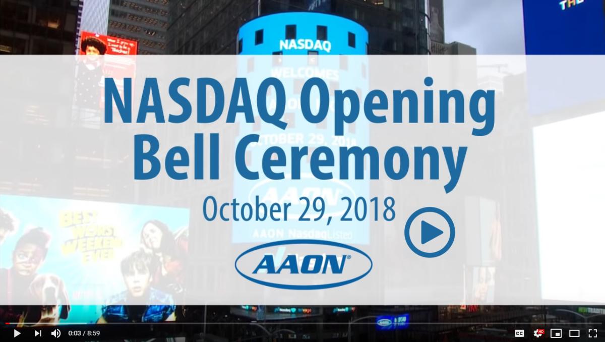 NASDAQ Opening Bell Ceremony