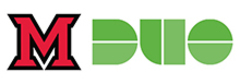 Green Duo logo next to the red Miami M
