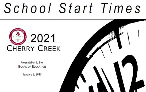 School Start Times Parent Survey