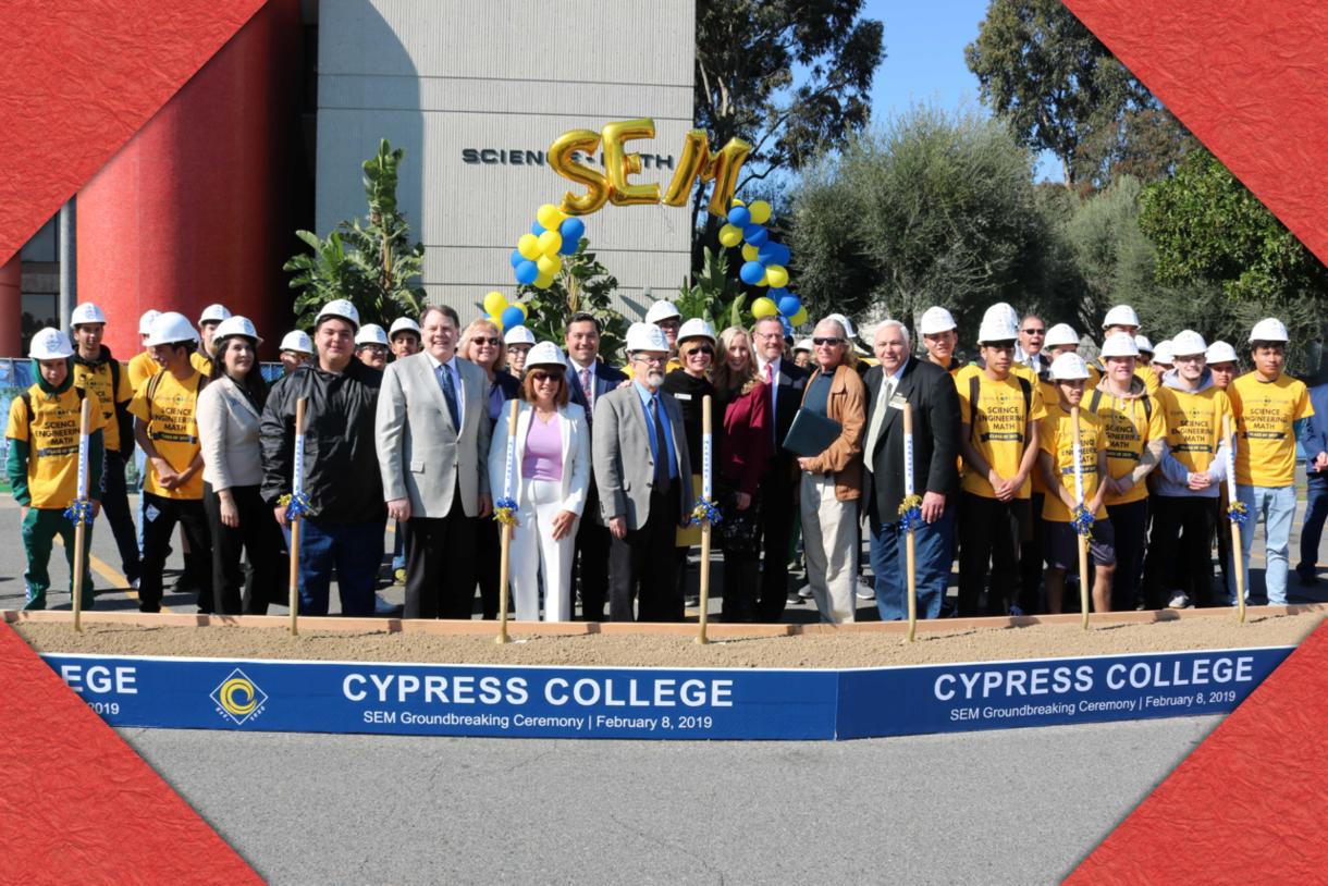 Cypress College SEM Groundbreaking on February 8, 2019