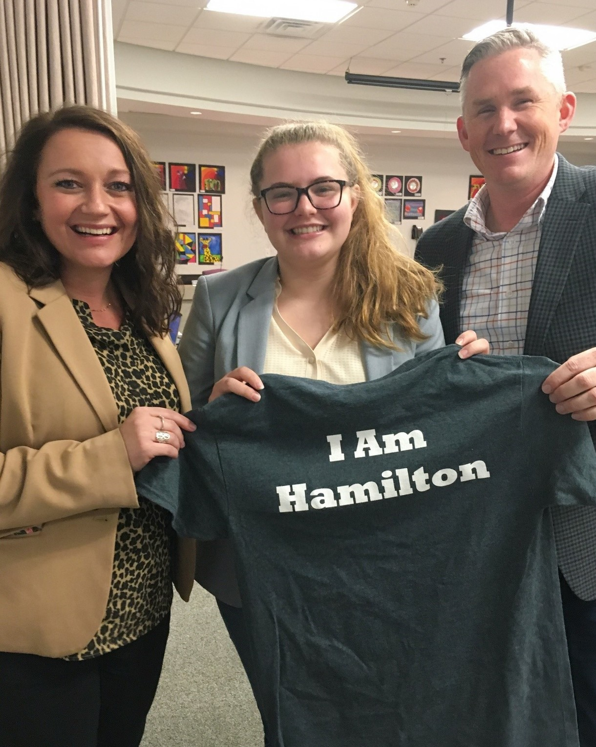 "Lily Receives ""I Am Hamilton"" Shirt"