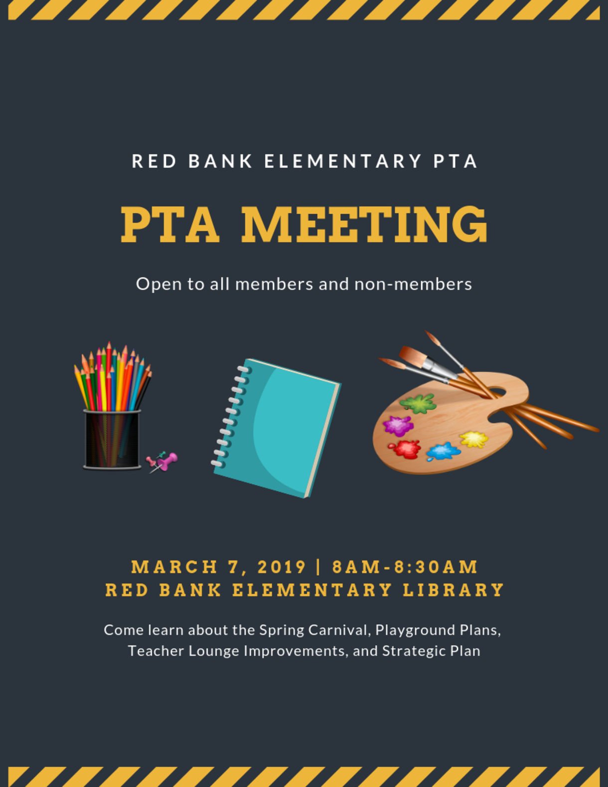 PTA Meeting March 7th at 8AM