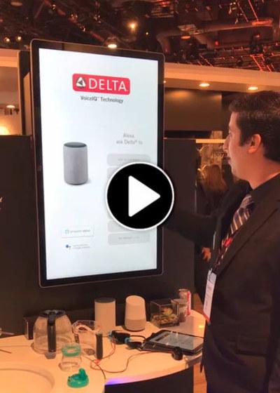 Delta and Alexa faucets at KBIS 2019