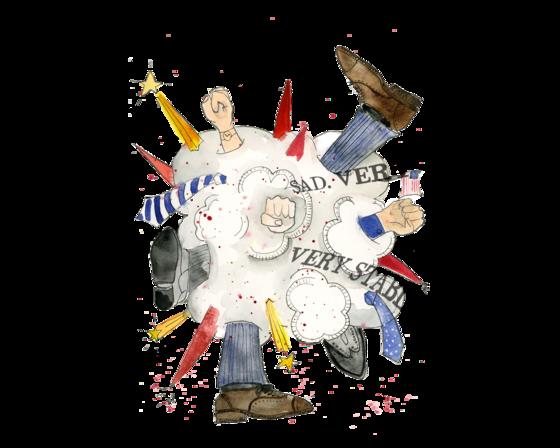 Illustration of a political news kerfuffle