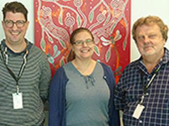 Geoff Heard, Lyndsey Vivian and Kim Lowe