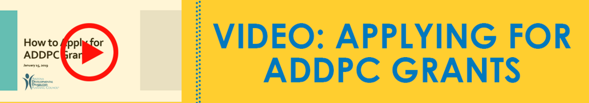 Video: Applying for ADDPC Grants