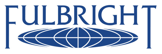 the fulbright logo, which features the word over a condensed globe