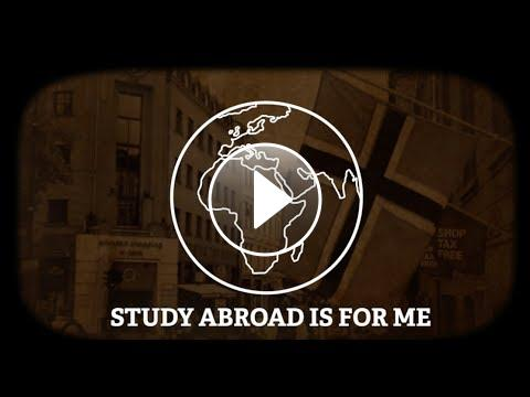 Study Abroad is for Me, graphic of globe, YouTube play button
