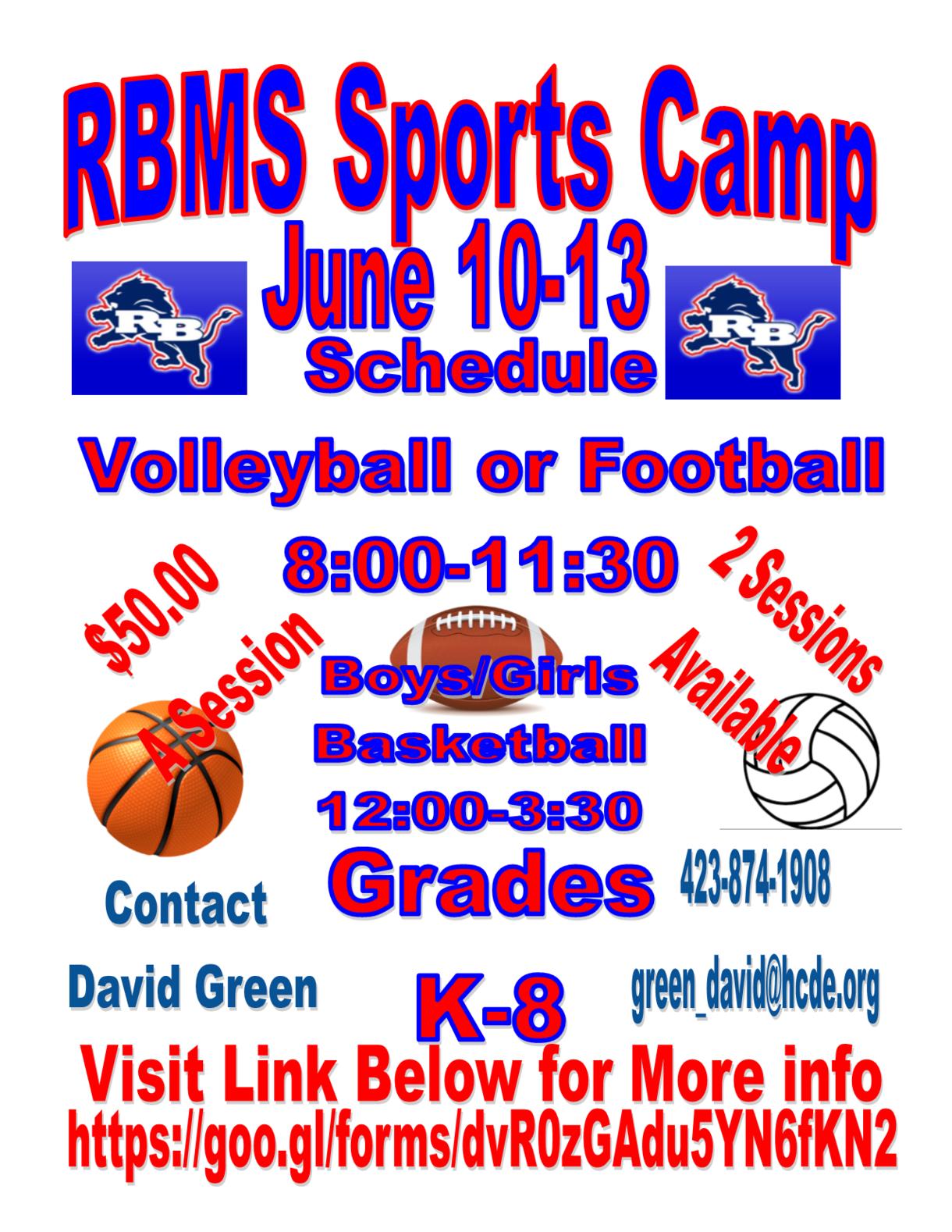 RBMS Sports Camp