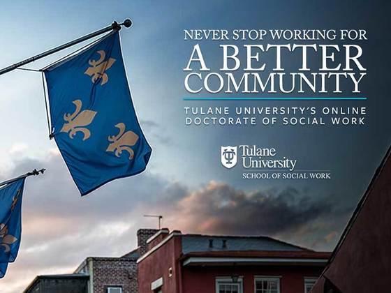 Tulane School of Social Work online doctorate