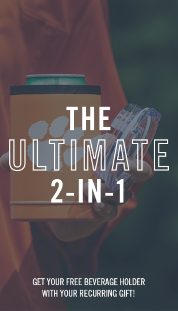 The Ultimate 2-in-1. Get your free beverage holder with your recurring gift.