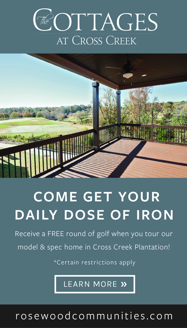 Cottages at Cross Creek - Come Get Your Daily Does of Iron. Receive a Free round of golf when you tour our model.