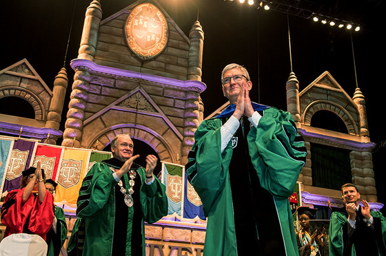 Tim Cook at 2019 Tulane University Commencement