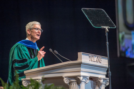 Tim Cook at Tulane University Commencement