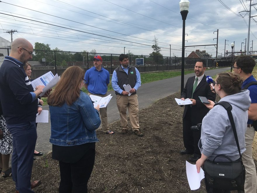 Dept. Secretary Mike Walsh and ofther community leaders discuss infrastructure needs