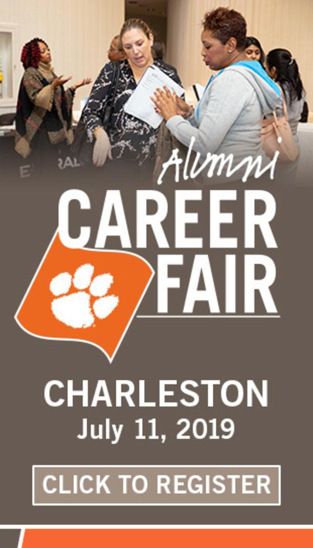 AlumniCareer Fair - Charleston July 11, 2019. Click to register.