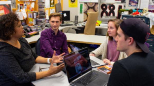 Students in student media program