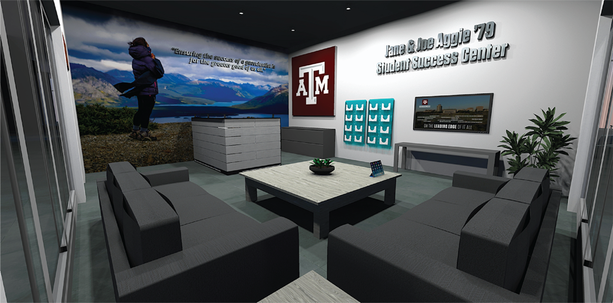 A rendering of the new Student Success Centers in Texas A&M Geosciences