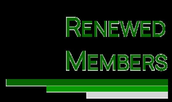 Renewed Members