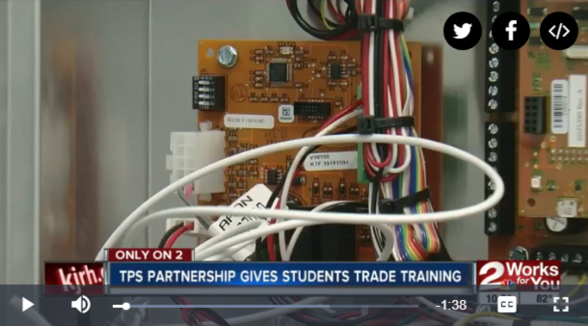Tulsa Public Schools partners with AAON Manufacturing to introduce students to STEM
