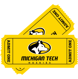 Link to Michigan Tech Athletics story about sports tickets.