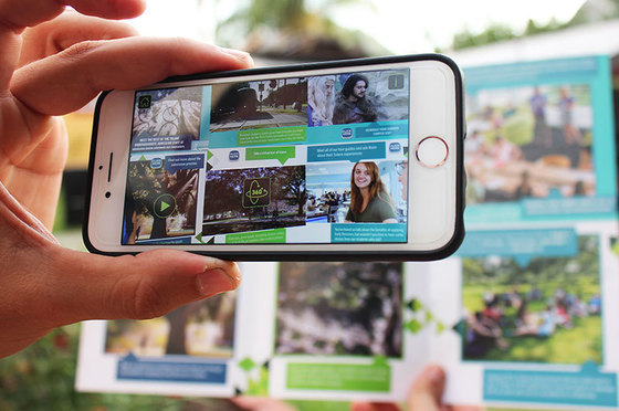 Tulane's augmented reality admission brochure