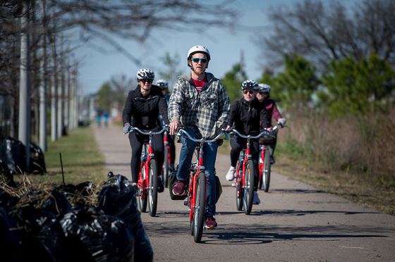 Cyclists on Lafitte Greenway