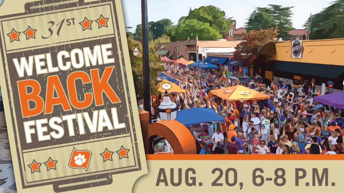 31st Welcome Back Festival. August 20, 6-8pm