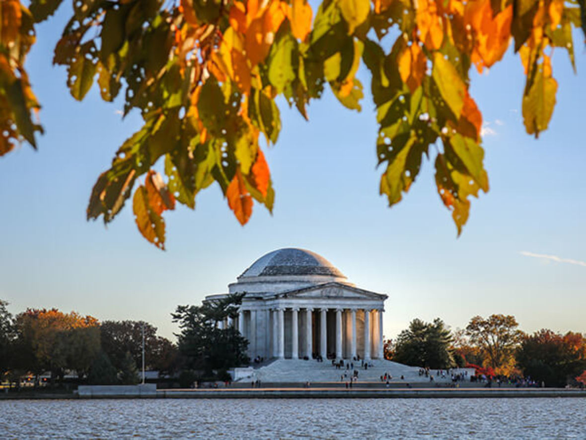 Jefferson Memorial in autumn