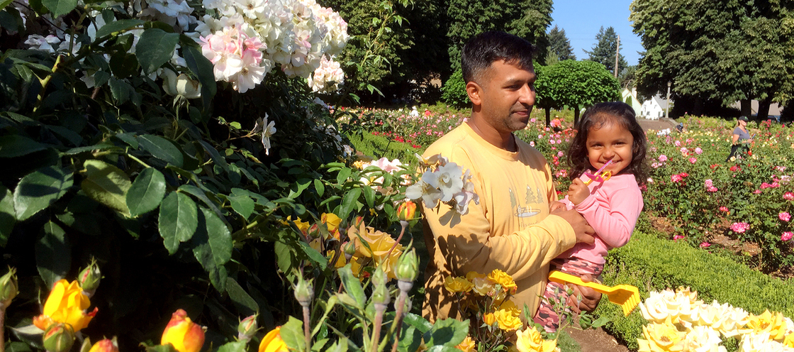 Volunteers at Peninsula Park Rose Garden