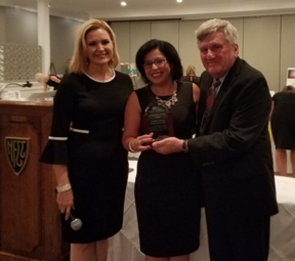 Mary Alice Demler of WGRZ-TV Channel 2, Jerry Wolfgang along with Dr. Simanjeet Mangat are pictured.